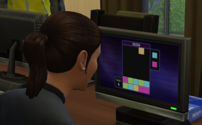 My Sim playing Blicblock in The Sims 4