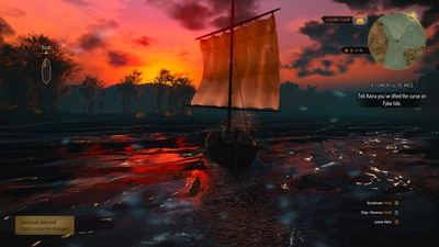 Boating in The Witcher 3