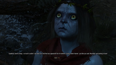 A godling in The Witcher 3