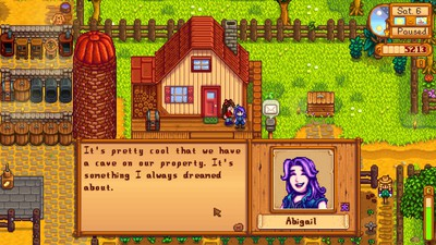 Abigail talking about our cave